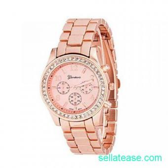 Geneva Rhinestone Women Wristwatch for sale