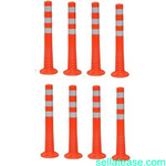 Surface Mount Delineator Reflective Warning Post - 8 Pieces