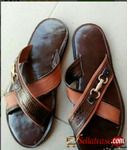 Male quality brown slippers in Nigeria