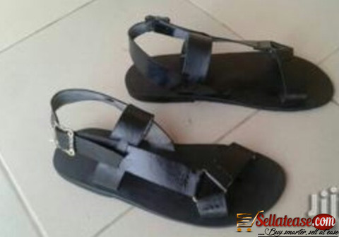 Pure skin black male sandals for sale in Nigeria