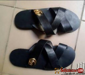Pure skin black male slippers for sale in Nigeria
