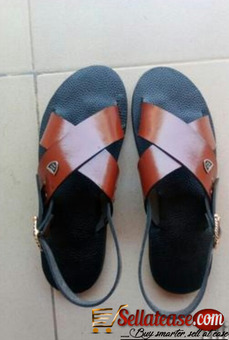 Quality brown male sandals