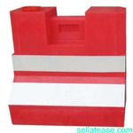 Set of 5 Plastic Road Safety Barricade Barrier