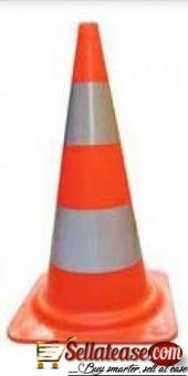 """28"""" Orange PVC Traffic Safety Cone With Red Base BY HIPHEN SOLUTIONS"""