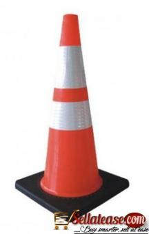 """28"""" Orange PVC Traffic Safety Cone With Black Base BY HIPHEN SOLUTIONS"""