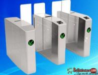 Stainless Steel Outdoor Flap Barrier Turnstile Noiseless Speed Gate BY HIPHEN SOLUTIONS