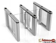 Glass Lane High Speed Flap Barrier Gate With 10 Pairs IR Sensors BY HIPHEN SOLUTIONS