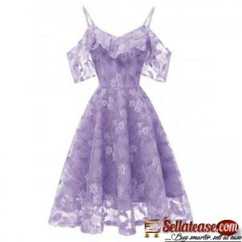 Ruffle Lace Cold Shoulder Dress Chinabrands Owned for sale in Nigeria