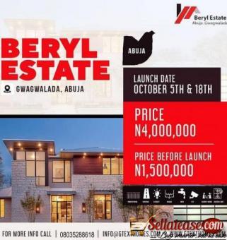 BUY NOW: LANDS AT BERYL ESTATE GWAGWALADA, ABUJA