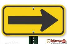 Aluminum Road Safety Traffic Arrow Sign With High Reflective Films BY HIPHEN SOLUTIONS