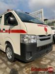Brand new and tokubo Toyota Hiace ambulance for sale in Nigeria