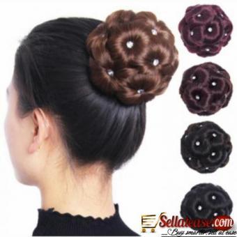 Bridal hair buns