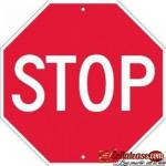60cm Aluminum Reflective Octagonal Stop Sign By Hiphen Solutions