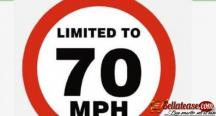 Aluminum Reflective Safety Maximum Speed Warning Sign By Hiphen