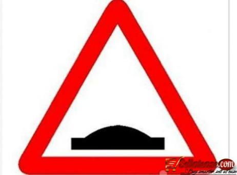 Aluminum Reflective Safety Hump Warning Sign By Hiphen Solution
