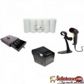 Receipt Printer, Cash Drawer & Thermal Paper POS Hardware Kit By Hiphen