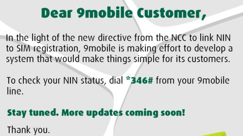 How to check your National Identification Number status on 9Mobile