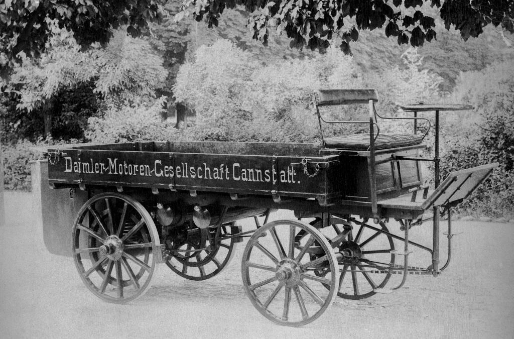 World's first truck built by Gottlieb Daimler